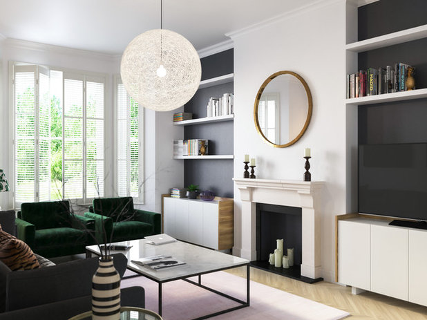 Transitional Living Room by Decotick