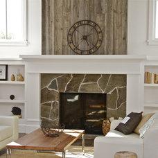 Farmhouse Living Room by KCS, Inc.