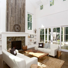 Farmhouse Living Room by KCS, Inc.