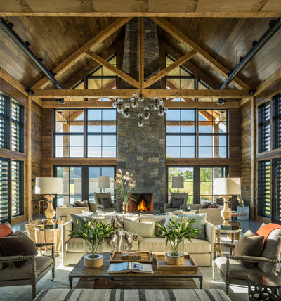 Fabulous Farmhouse Living Room by Roundtree Construction