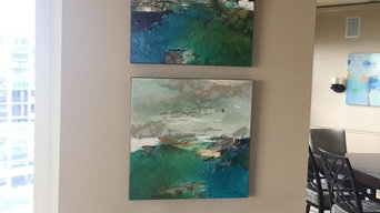 Contemporary Fine Art in new Client's Home in Sarasota