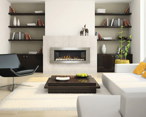 contemporary gas fireplaces photos - Gas Fireplace Design Ideas