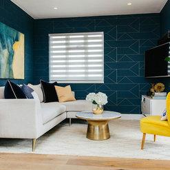 Contemporary Geometric Living Room