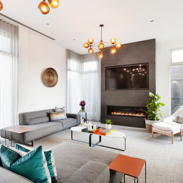Contemporary Glam - Living Room