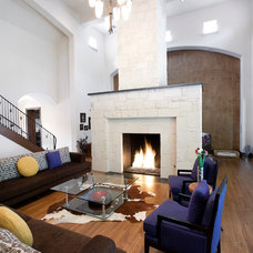 Contemporary Living Room by Holmes Builders