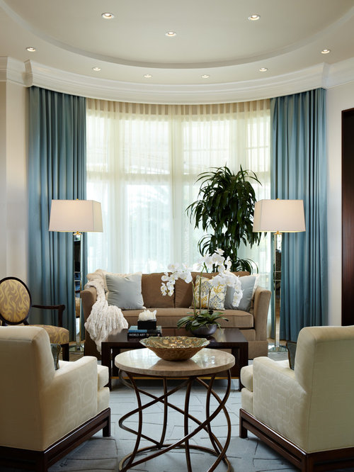 Curved bay window home design ideas pictures remodel and for Bay window living room ideas