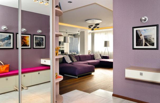 Contemporary Living Room by Ino Getiashvili