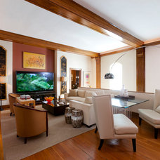 Contemporary Home Theater by Anthony Michael Interior Design, Ltd.