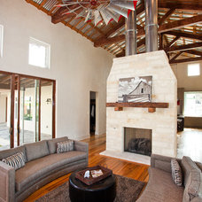 Eclectic Living Room by Texas Timber Frames