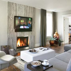 Contemporary Living Room by Pammax Design Intérieur Inc.