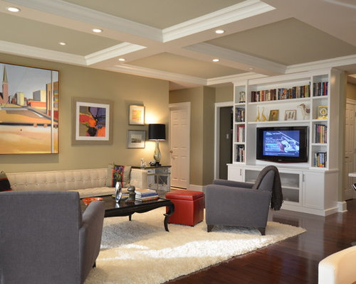 Inspiration For A Timeless Living Room Remodel In Philadelphia With Media Wall