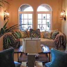 Contemporary Living Room Contemporary Laundry Room
