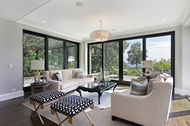 Contemporary Living Room by 2 Design Group