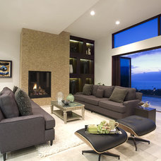 Contemporary Living Room by abodwell interior design- Brittney Fischbeck