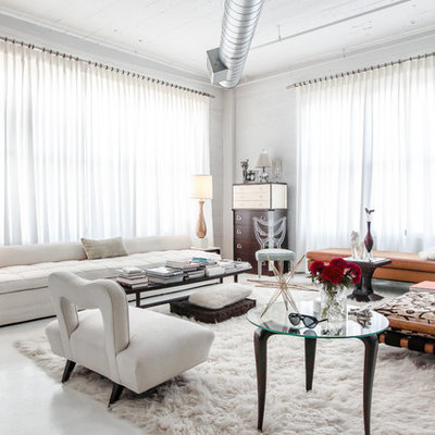 Example of a mid-sized trendy living room design in Las Vegas