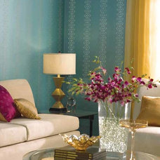 Contemporary Living Room by American Blinds Wallpaper and More