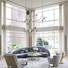 Contemporary Living Room by Amy Lau Design