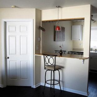 Contemporary Living Room and Bar Area