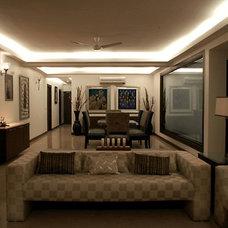 Contemporary Living Room by Anurag Mendiratta