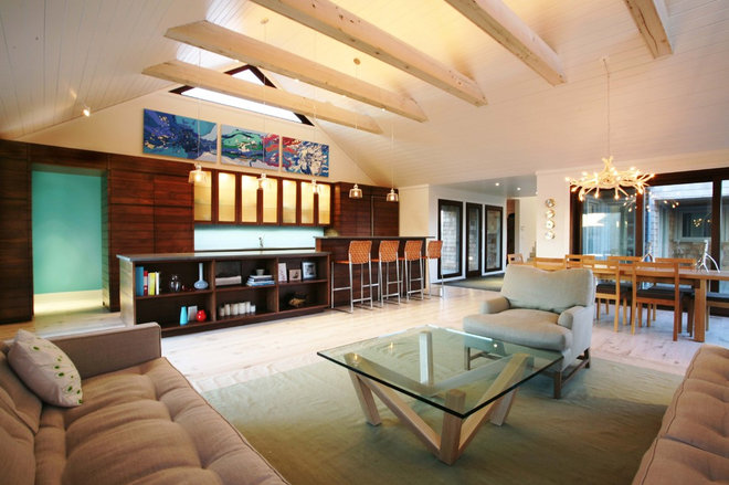 Contemporary Living Room by BERG DESIGN ARCHITECTURE