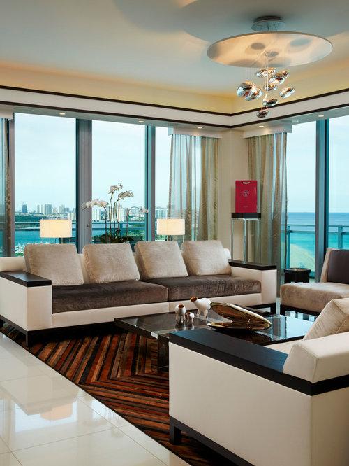 Contemporary Living Room Idea In Miami