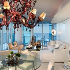 Contemporary Living Room by Britto Charette Interiors - Miami Florida