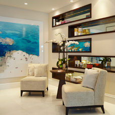 Contemporary Living Room by Britto Charette Interiors - Miami Florida