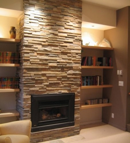Shelves next to fireplace home design ideas renovations for Bookshelves next to fireplace