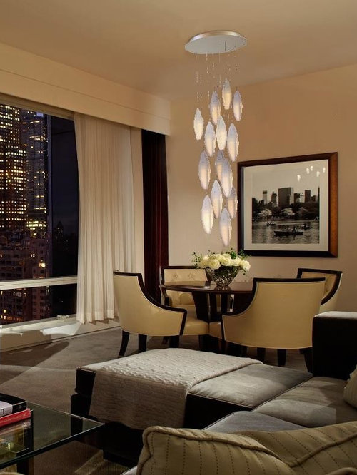contemporary living room chandelier modern two story great room chandelier. Black Bedroom Furniture Sets. Home Design Ideas