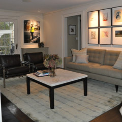 contemporary living room by Christine Tuttle Interior Design