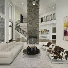Contemporary Living Room by Contour Interior Design, LLC