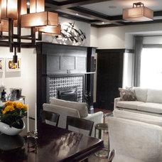 Contemporary Living Room by Croma Design Inc