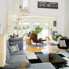 Contemporary Living Room by Design Brouelette