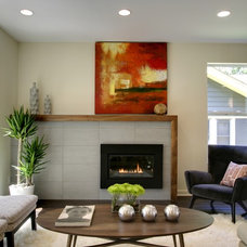 Contemporary Living Room by Brian Grabski