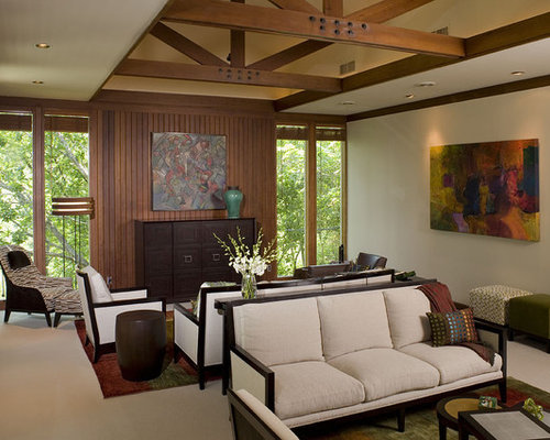 Modern lodge home design ideas pictures remodel and decor - Lodge living room decorating ideas ...