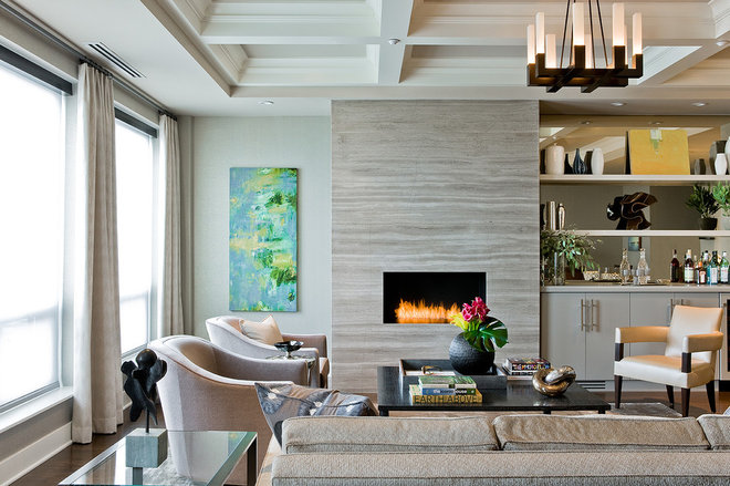Contemporary Living Room by Terrat Elms Interior Design