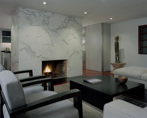 Inspiration For A Large Contemporary Living Room Remodel In Seattle With  White Walls Part 83