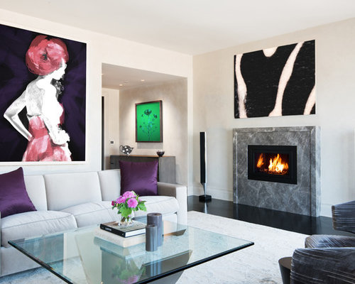 Fireplace ideas design photos houzz - Modern fireplace living room design ...