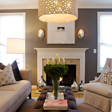 Transitional Living Room Contemporary Living Room