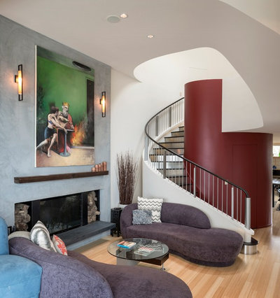 Contemporary Living Room by Hughes Studio Architects
