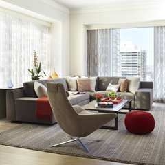contemporary living room by Jessica Lagrange
