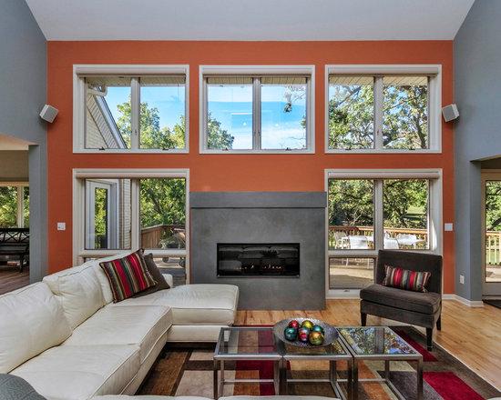 Grey And Orange Living Room grey and orange | houzz