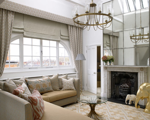 Contemporary Living Room Idea In London With A Standard Fireplace And A  Stone Fireplace Part 38
