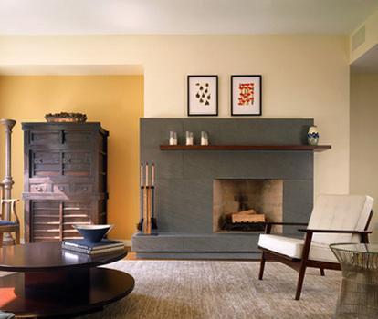 Asymmetrical Fireplace Houzz