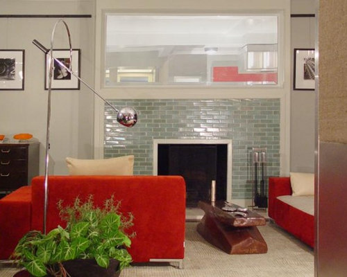 glass tile fireplace photos