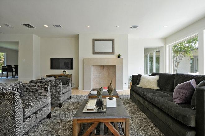 Contemporary Living Room by Saavedra Design Studio