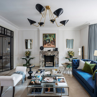 This is an example of a contemporary living room in London.