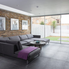 Contemporary Living Room by IQ Glass UK