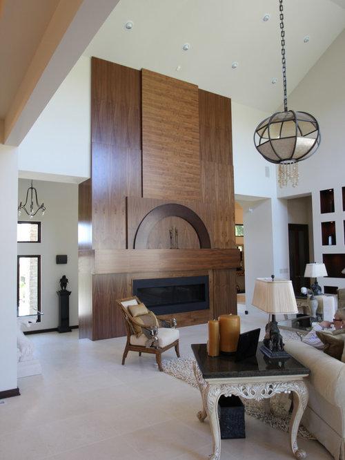 White Wood Fireplace Surround | Houzz