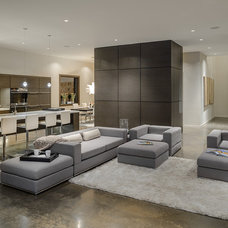 Contemporary Living Room by Joshua Lawrence Studios INC